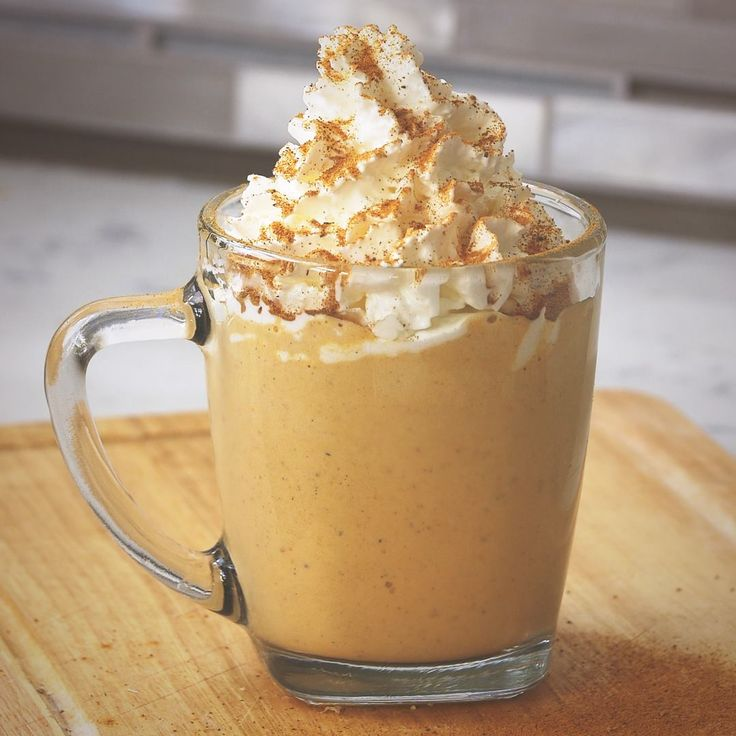 Pumpkin Spice Latte Milkshake: 3 scoops vanilla ice cream 1 scoop pumpkin puree  1 splash of coffee  1 tsp pumpkin spice (can be bought or made by mixing 1 part, nutmeg, 1 part ginger, 1 part allspice, 4 parts cinnamon)   Blend.