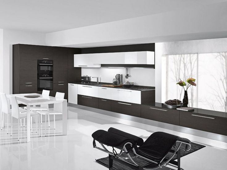 Modern Kitchen Room modern living room and kitchen design - kitchen design ideas