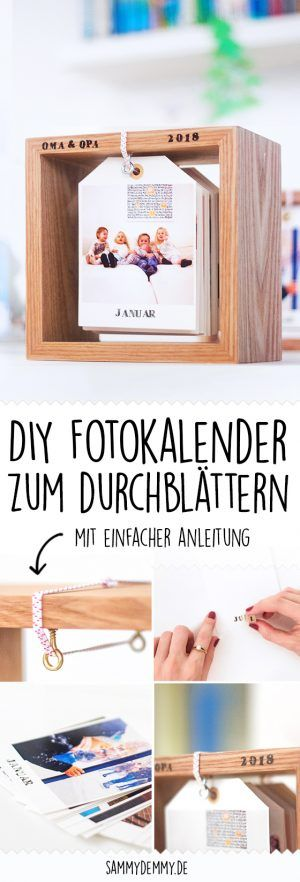 DIY photo calendar in a wooden frame: little picture, change!