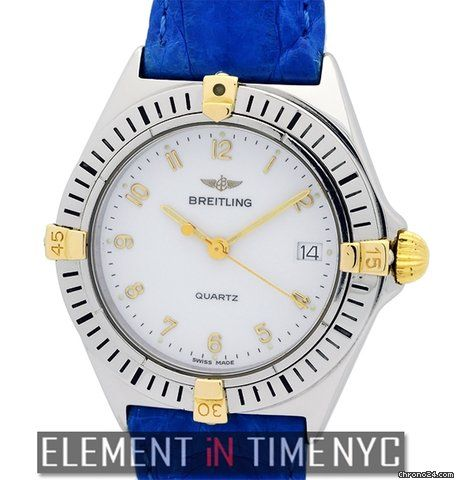 Breitling  ad: price on request Breitling Callistino Stainless Steel & 18k Yellow Gold... Ref. No. 80510; Steel; Quartz; Condition 1 (mint); Location: United States, NY, New York