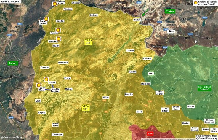 #Media #Oligarchs #Banks vs #union #occupy #BLM #SDF #Humanity  #Efrin : #Turkish army shell many villages of Şîyê and Rajo districts . #YPG / #SDF / #YPJ shell back #Turkey in response. V @melisaraimmo   https://twitter.com/EmmanuelGMay/status/857705462447431680