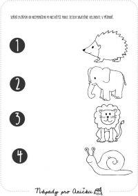 Pracovní list - Zvířata I.