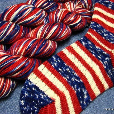 Grand Old Flag - Self Striping Sock Yarn