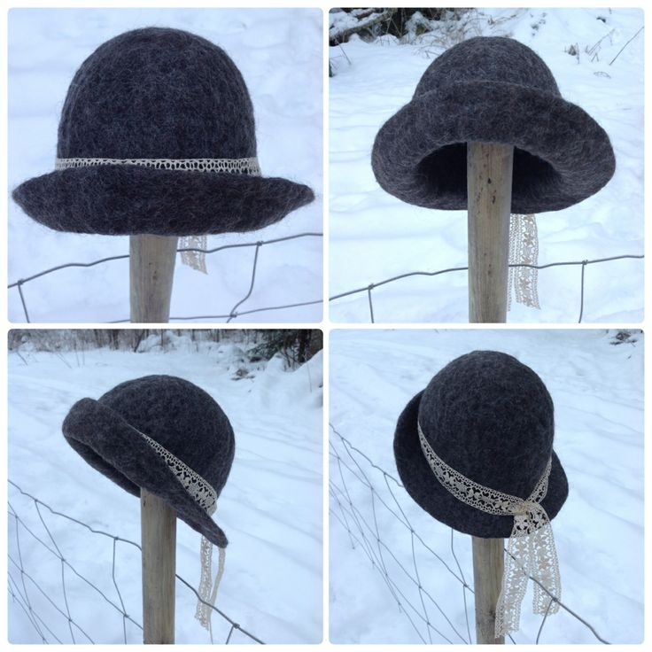 Wet felted hat.