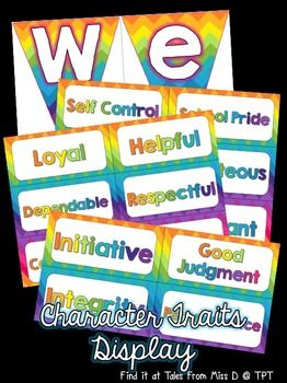 This display can be used to promote character development in your classroom.