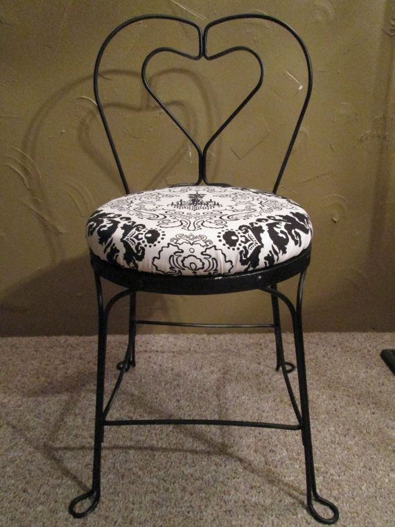 Vintage Heart Back Chair by UpcycledInc on Etsy, $65.00