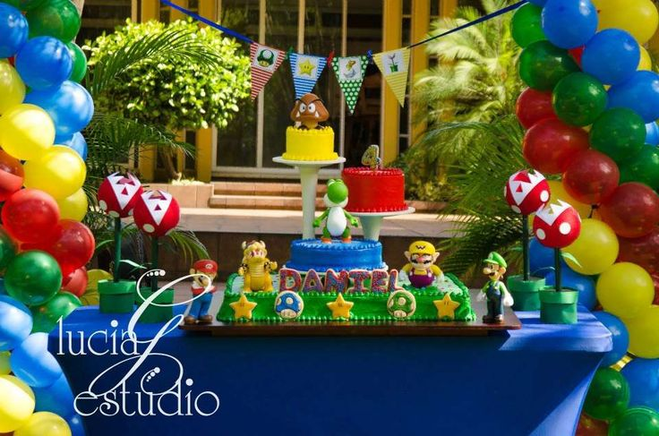 Super Mario Brothers Birthday Party Ideas   Photo 9 of 16   Catch My Party