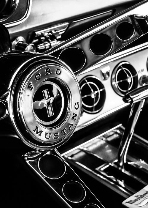 Classic Mustang Interior Photograph by Jon Woodhams - Classic Mustang Interior Fine Art Prints and Posters for Sale