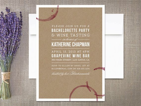 Wine Tasting Bridal Shower Invitations