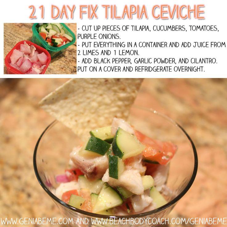 21 day fix meal idea with tilapia! #21dayfix via www.geniabeme.com