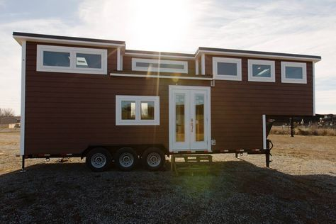 "The Lookout v2: the second edition of The Lookout which won ""Best in Show"" at the 2016 Tiny House Jamboree. Designed and built by Tiny House Chatanoooga."