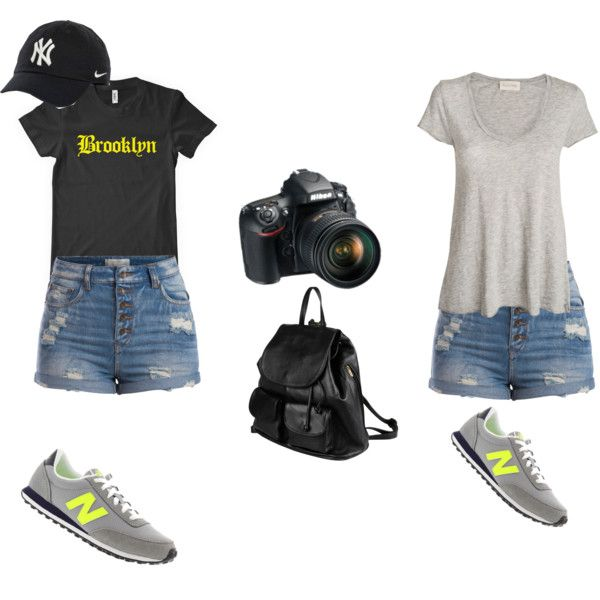 Untitled #8 by jasmine-adisbeth on Polyvore featuring мода, American Vintage, Pieces, New Balance, PARENTESI, NIKE and Nikon