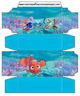 Nemo - Complete Kit with frames for invitations, labels for snacks, souvenirs and pictures!   Making Our Party