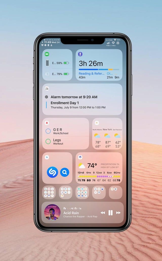 Setup Bootleg Ios 14 Iosthemes In 2020 Iphone Organization Iphone Layout Organize Apps On Iphone