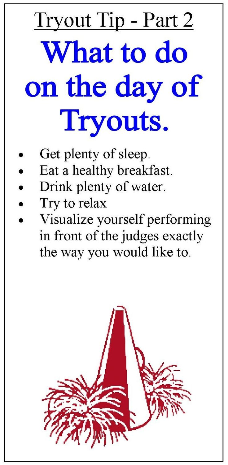 Tryout tips clipart - part 2
