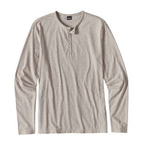 M's Long-Sleeved Daily Henley, Birch White (BCW)