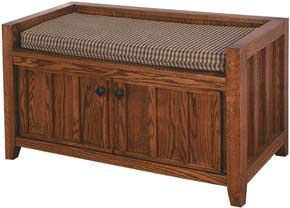 33% OFF Amish Furniture - Hand Crafted Shaker and Mission Furniture Online Outlet Store: 2-Door Mission Bench: Oak
