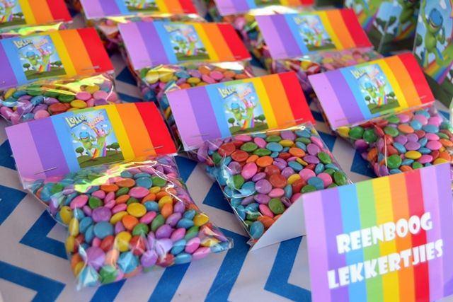 Rainbow Sweets in Packets with Lollos Bag Toppers