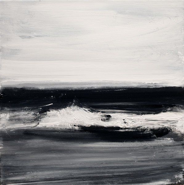 John Virtue :Norfolk No. 63, 2010 North Sea Paintings and Monotypes