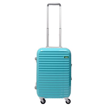 Sky Blue Lojel Groove rolling luggage. On sale at Amazon.com.