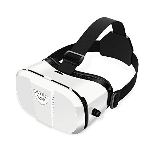 Merope Virtual Reality Headset 3D Glasses (White)