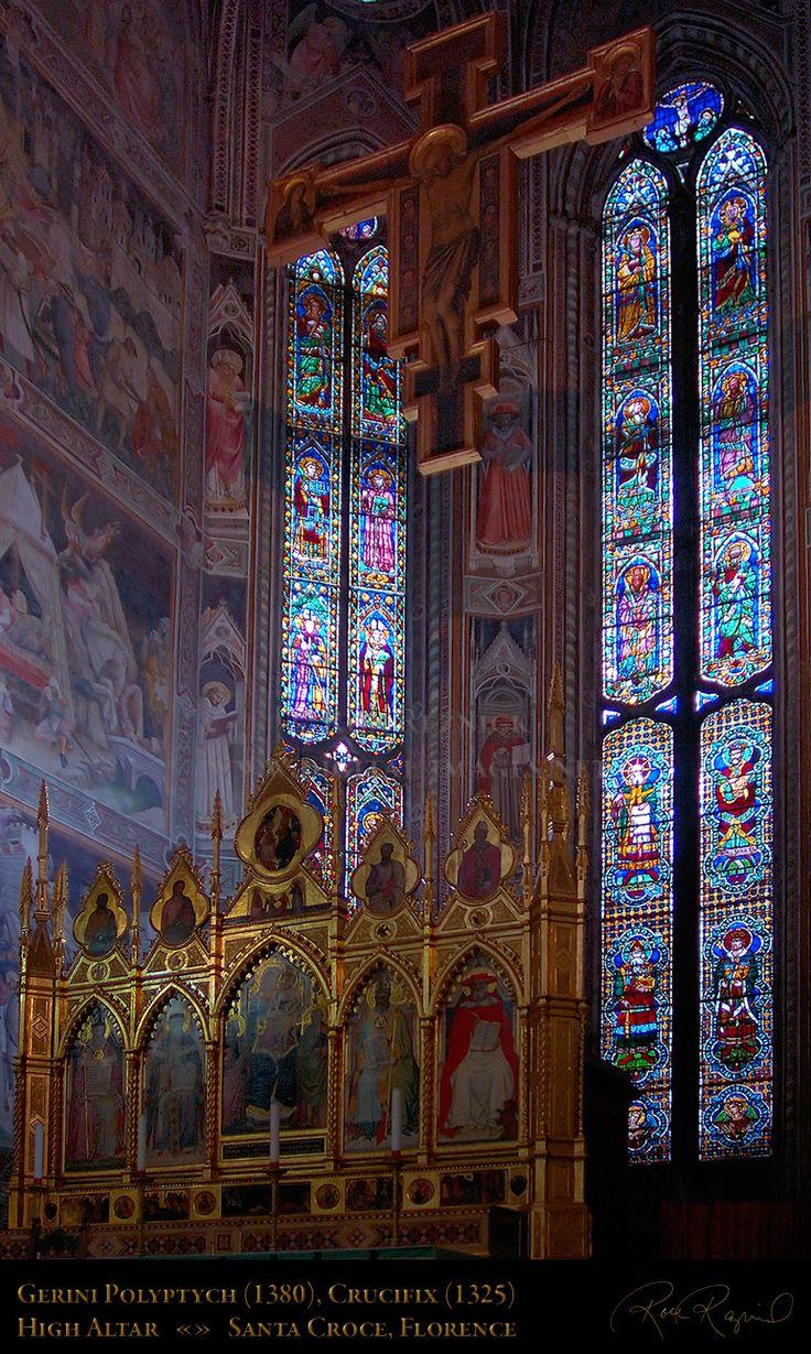 Cappella Maggiore - Basilica Santa Croce, Firenze - vetrate su disegno di Agnolo Gaddi