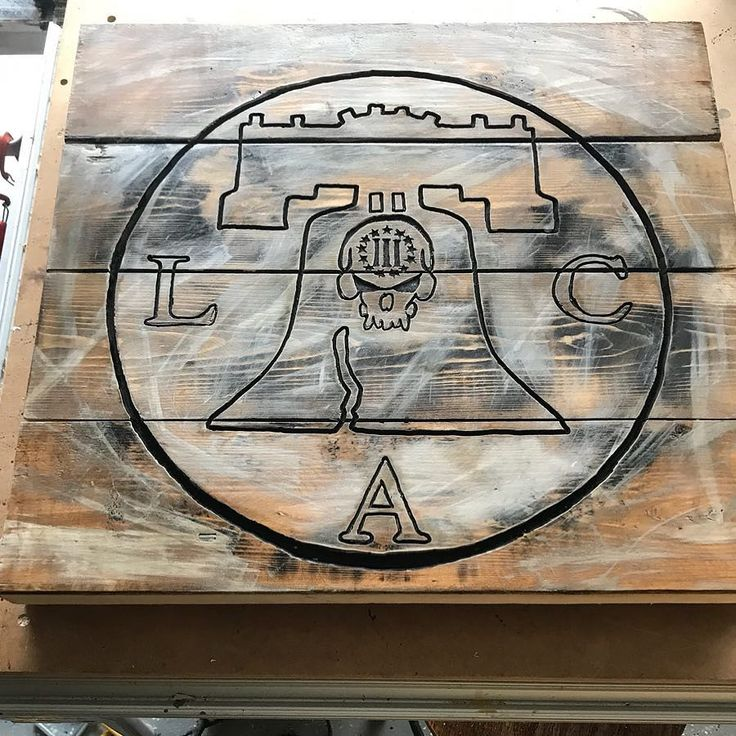 #woodsigns made this for a buddy of mine @libertyarmscoatings  go check them out . #woodworking #diy #woodwork  #ryobi routers #woodart  #loveit #routing  #craft #wooddesign