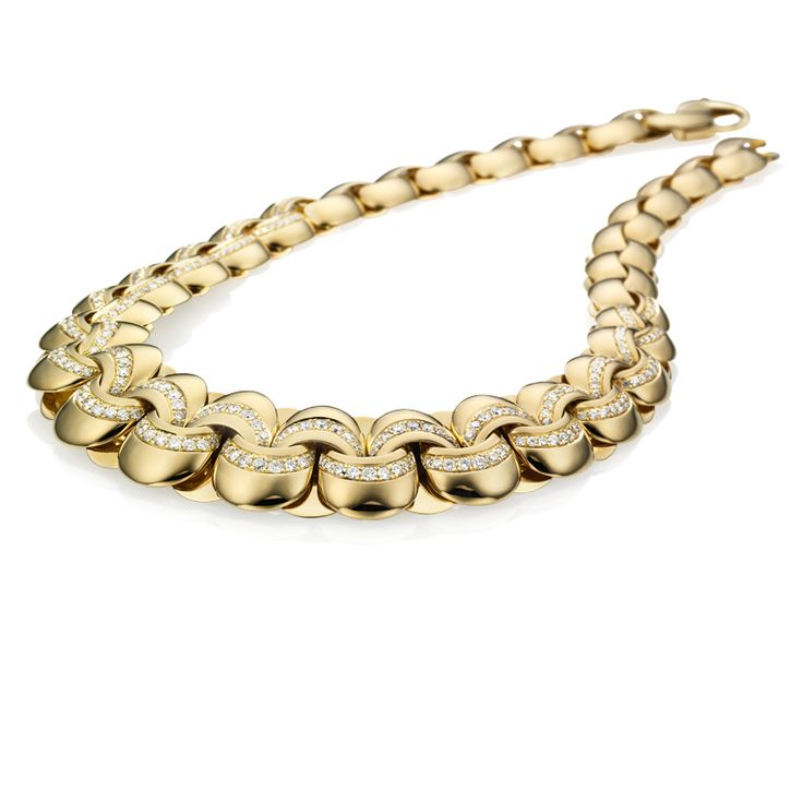 CHIMENTO yello gold with diamonds Infinity necklace.