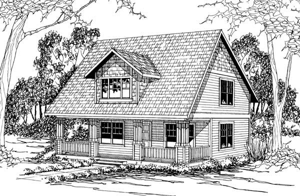 Cape cod cottage country house plan 69397 house plans for Country cape cod house plans