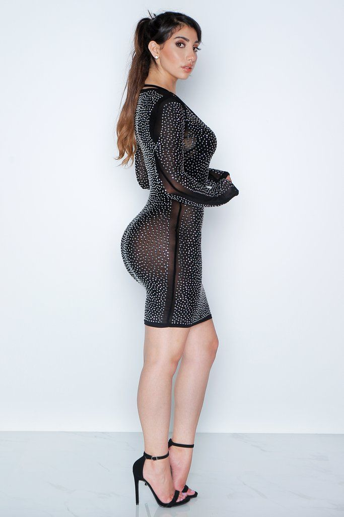 Black Lucky Diamond Dress