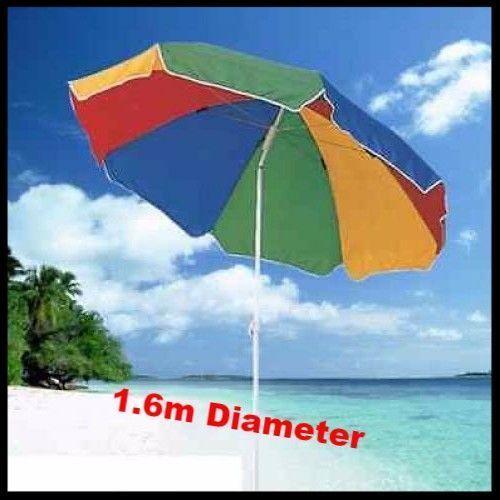 Beach Umbrella Tilting Parasol Sun Shade Protection Garden Patio Sun Shelter Uk