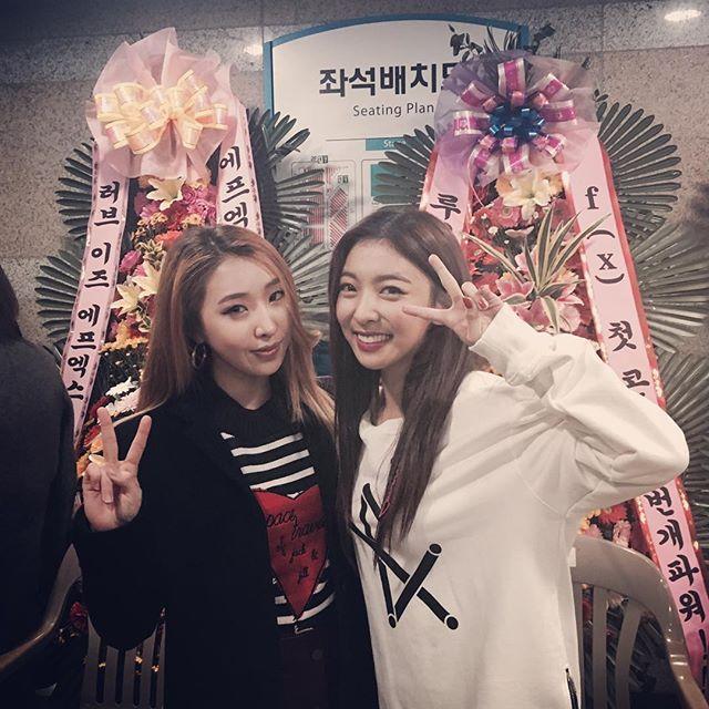 [f(x) concert 2016] 2NE1 Minzy and f(x) Luna