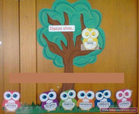 Baykuşlu Haftanın Günleri Grafiği Kalıplı - Önce Okul Öncesi Ekibi Forum Sitesi - Biz Bu İşi Biliyoruz