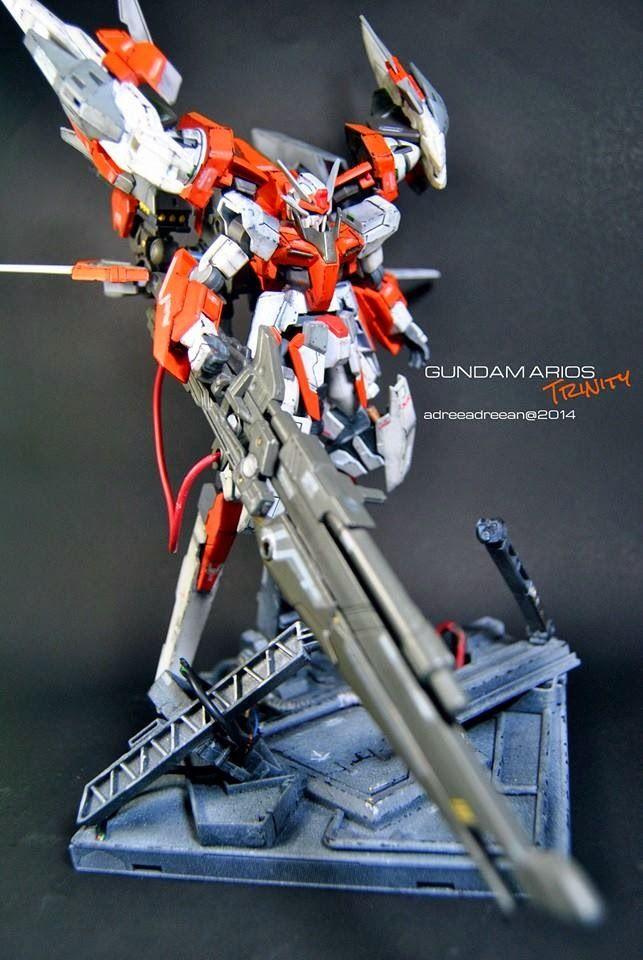 Custom Build Hg 1 144 Arios Quot Trinity Quot Gundam Kits