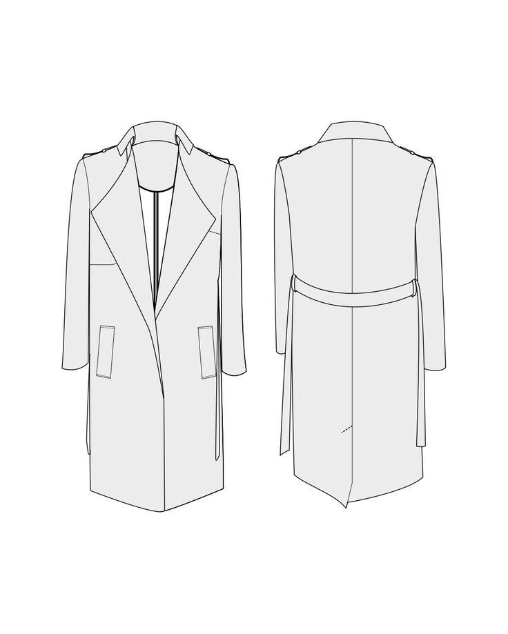 Trench & paletot Londres - patron de couture pour femmes | Orageuse