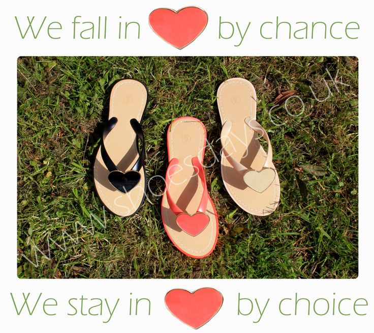 Sandals that show you nothing but love.