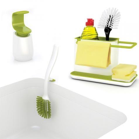 Набор для мытья посуды 3-piece (органайзер, диспенсер, щетка) / Joseph Joseph / Интернет-магазин дизайнерских вещей AdMe.Shop