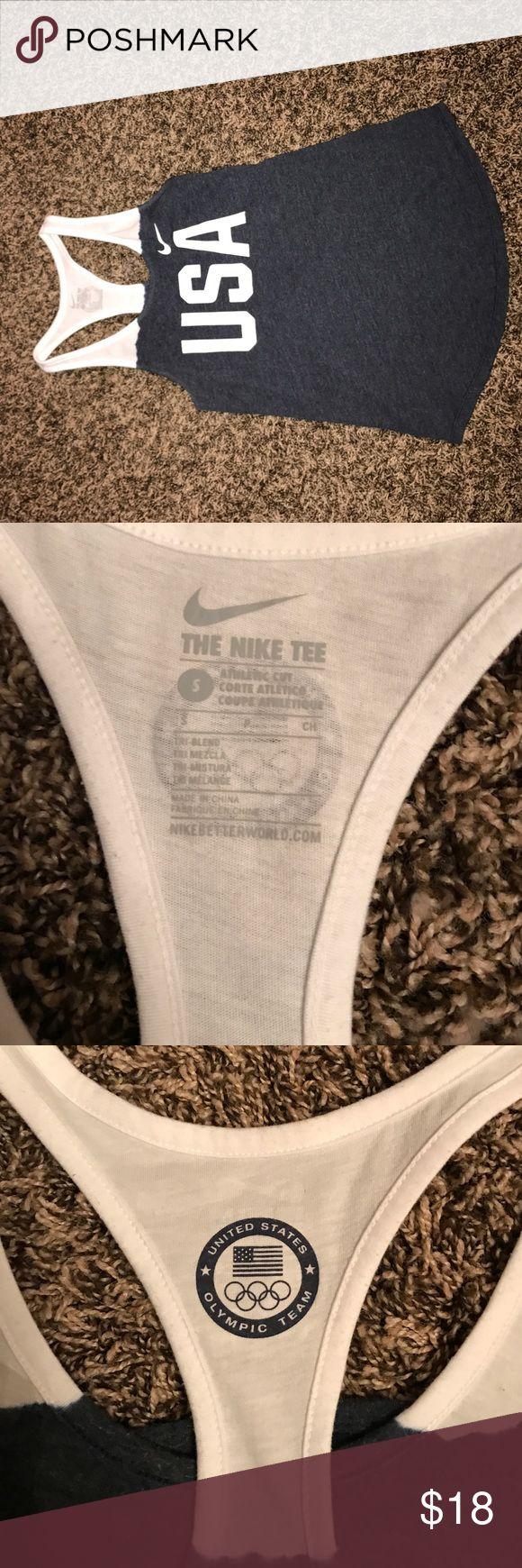 USA nike tank top USA nike tank top. size small. never worn. perfect condition Nike Tops Tank Tops