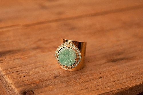 Druzy and Green Topaz Ring (CLICK FOR MORE COLORS)