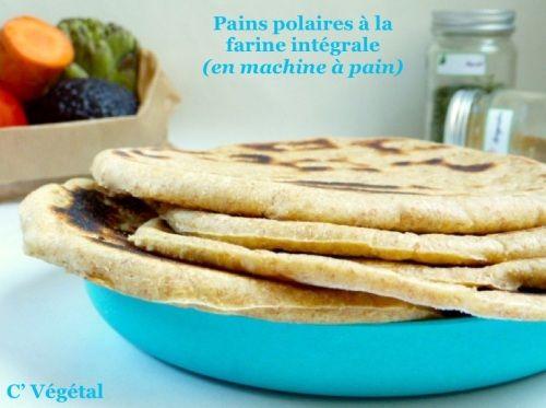 Pain polaire à la farine intégrale (en machine à pain) - Vegan