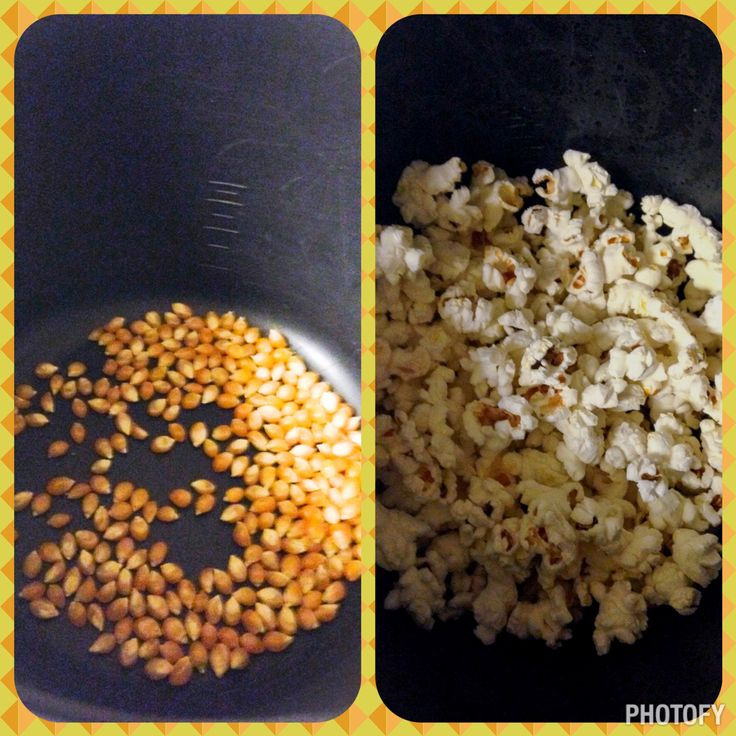 Made air-popped popcorn in my Pampered Chef Rice Cooker Plus! Cooked on high in the microwave for five minutes till it stopped popping. Cover in salt. Enjoy.