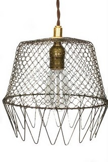 Mesh and old fashioned lamp