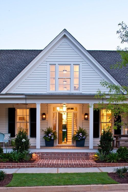 Lighting And Landscaping To Brighten The Exterior Renovation Senoia Farmhouse