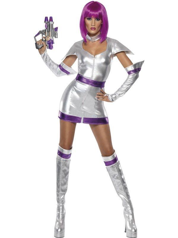 Strój niezwykle seksownej kosmicznej wojowniczki. Doskonałe przebranie na imprezę karnawałową lub przyjęcie w stylu science fiction.