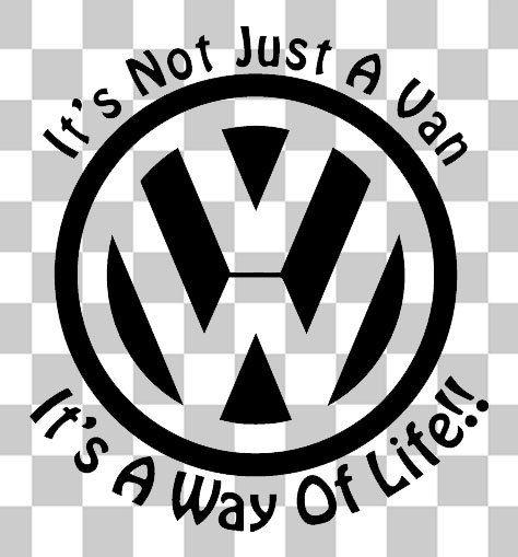 Volkswagen car van vw transporter t4 t5 golf polo camper bumper jdm vw vag sticker decal