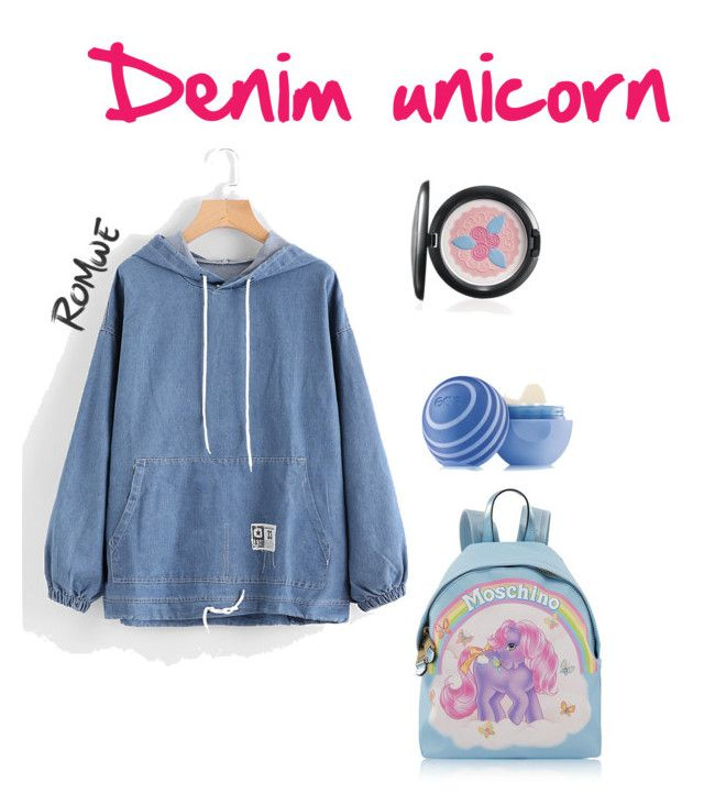 """""""Denim unicorn"""" by francesca-melucci ❤ liked on Polyvore featuring Eos and Moschino"""