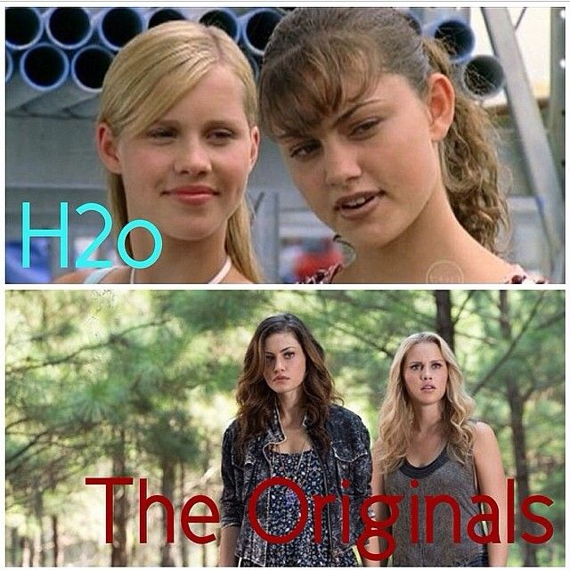 Phoebe Tonkin and Claire Holt  Loved them on H2O... love them on the originals!!!!
