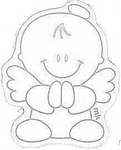 Angel baby - could use for paper piecing
