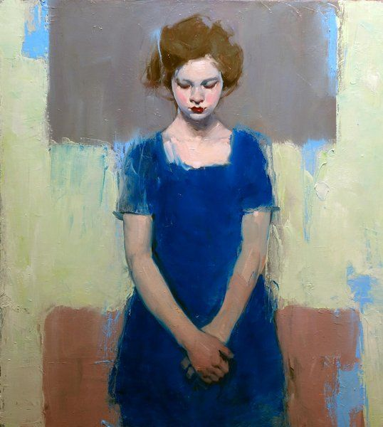 Malcolm T. Liepke - Contemporary Artist - Figurative Painting - Little Girl Blue, 2014