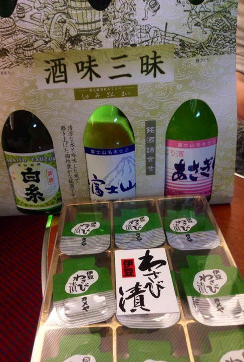 御殿場発の 居酒屋ロマンスカー 「あさぎり」2014。 静岡の地酒にわさび漬け はデフォ?